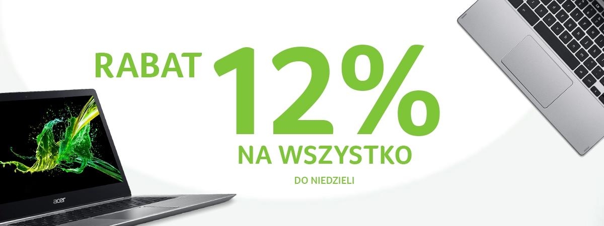 12% na cały asortyment Acer