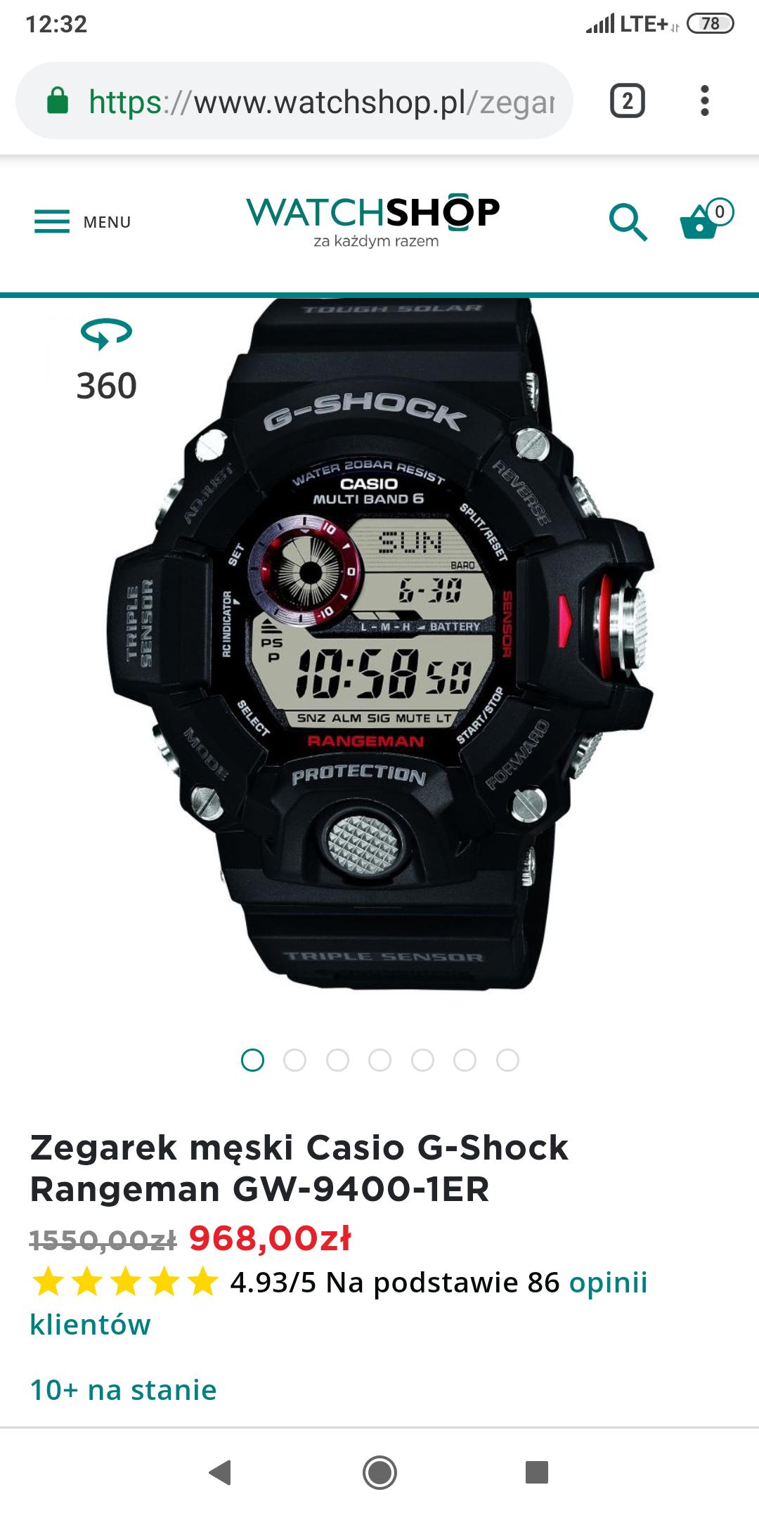 Zegarek Casio G-Shock GW-9400 Rangeman