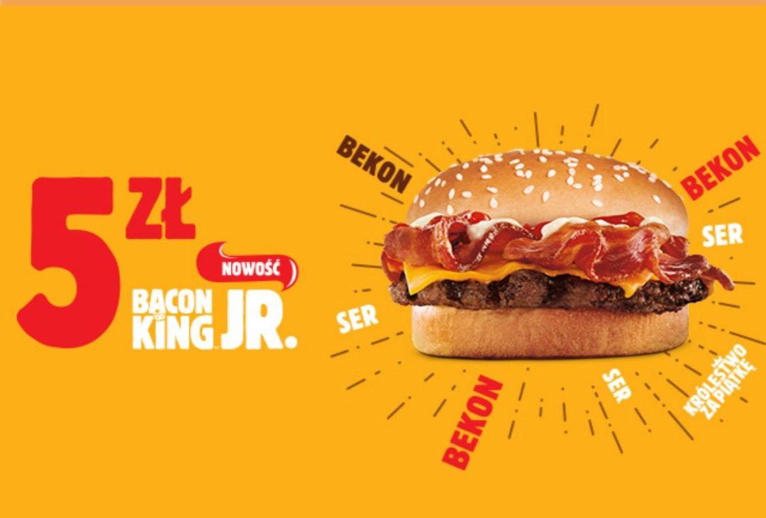 Bacon King Jr. za 5 złotych w Burger Kingu!