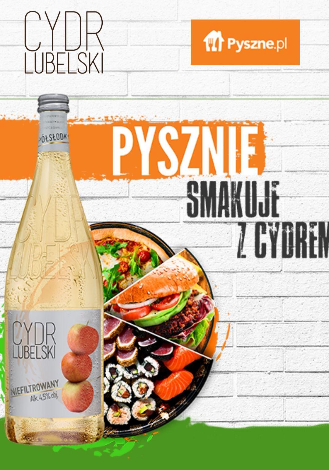 Kolejna odsłona akcji PYSZNIE SMAKUJE Z CYDREM LUBELSKIM! Kup Cydr Lubelski - odbierz kupon 10zł MWZ 30zł na pyszne.pl