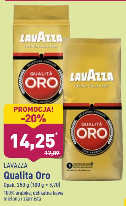 Kawa Lavazza mielona, ziarna Aldi
