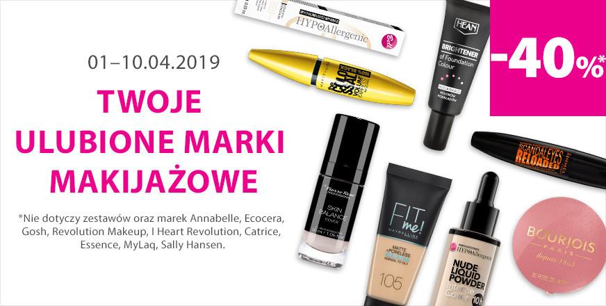 40% rabatu na marki makijażowe @ Hebe