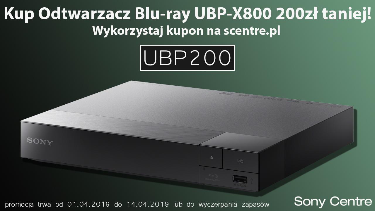 Odtwarzacz Blu-Ray z 4K UHD i DSEE HX - Sony UBP-X800 z kodem na 200zł  - scentre.pl