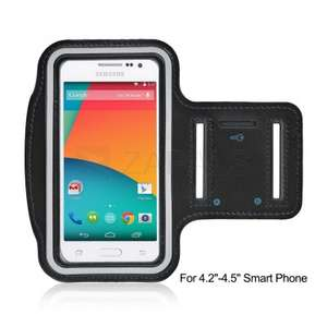 "Sports Arm Band for 4.2""-4.5"" Smart Phone - Black"