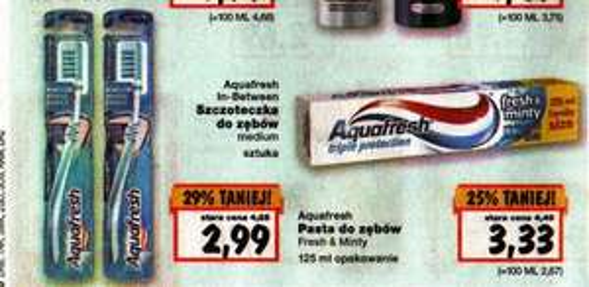 Przybory do zębów Aquafresh