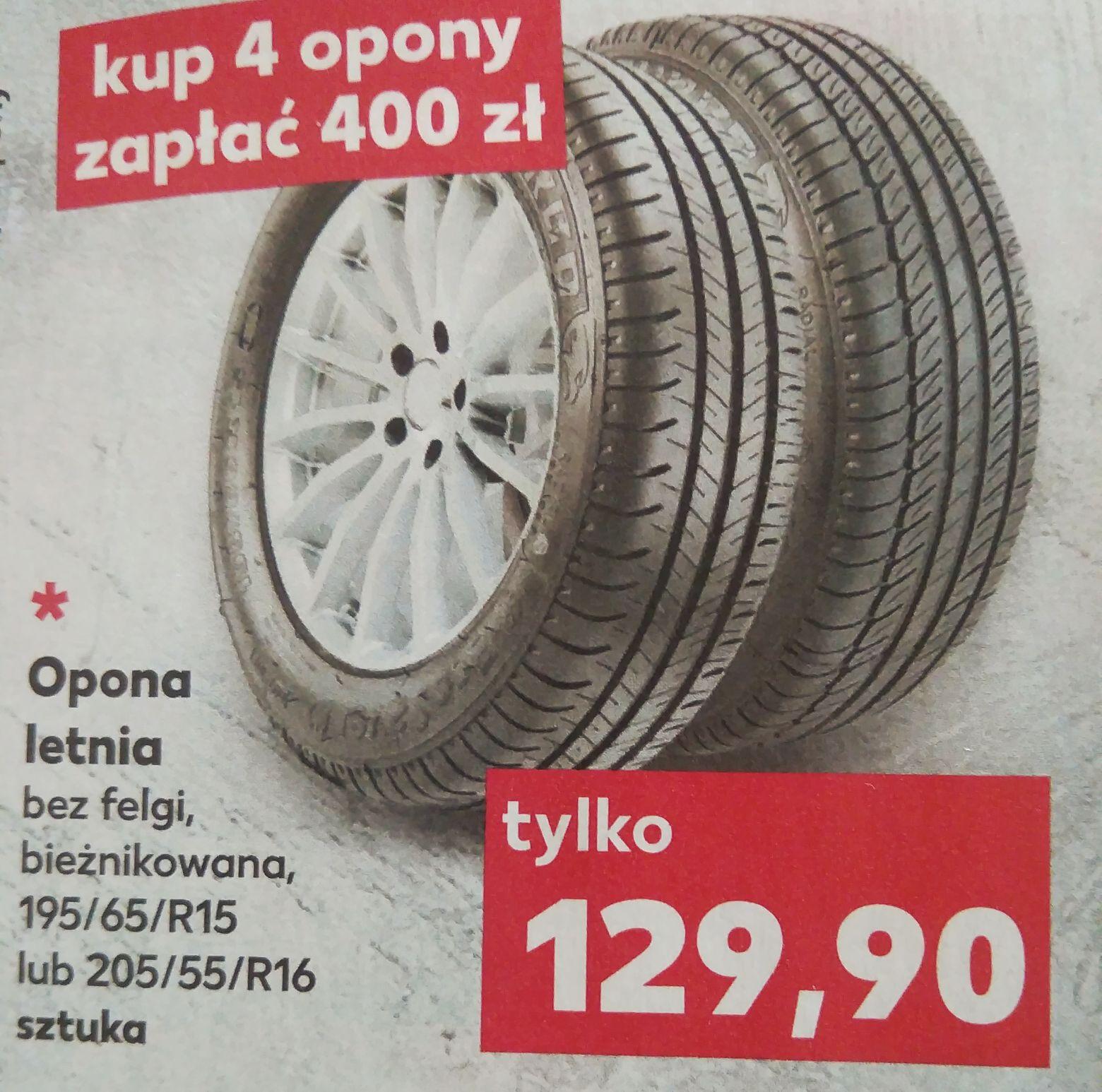 4x Opony letnie 195/65/R15 lub 205/65/R16 Kaufland