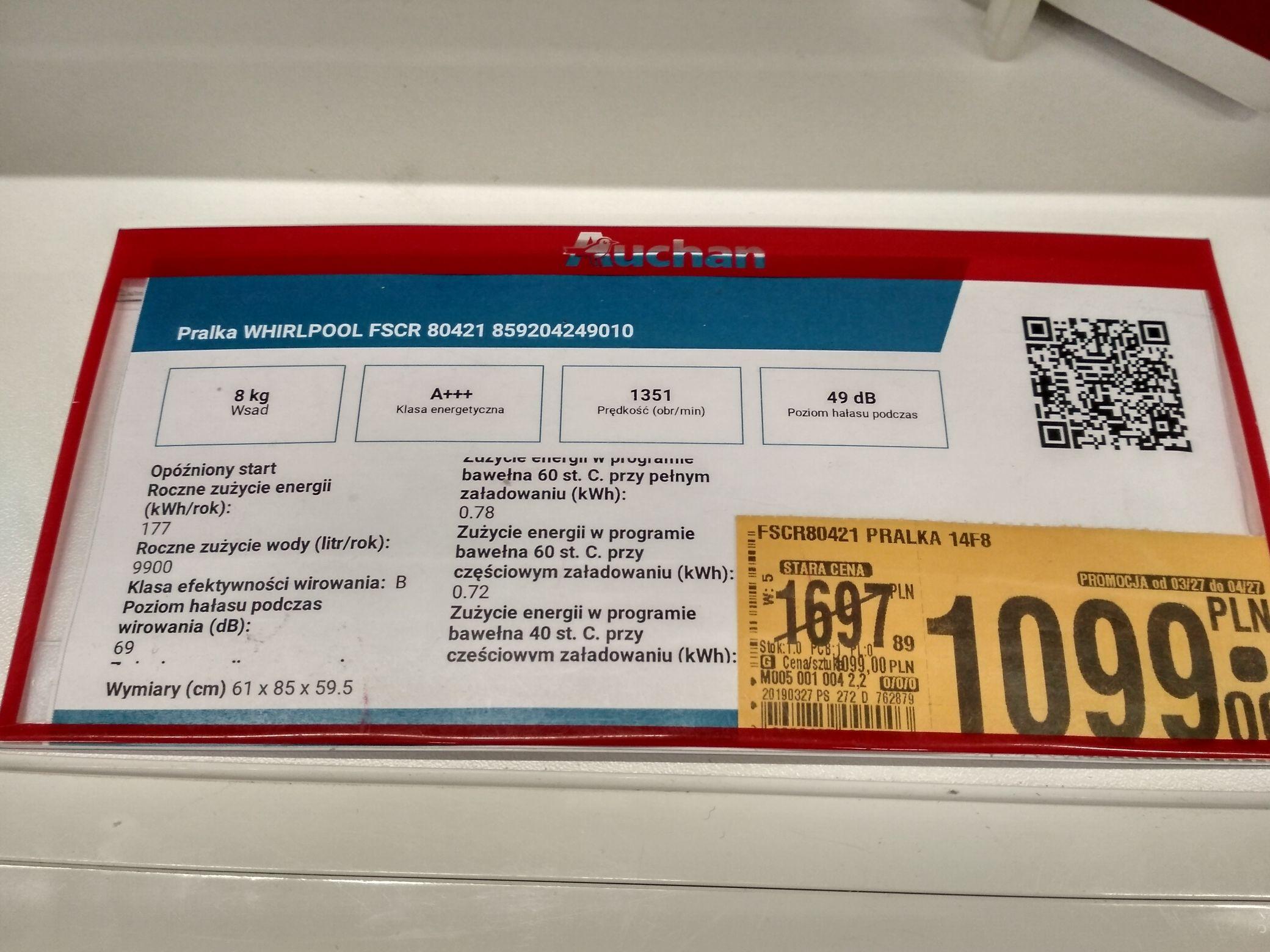 Whirlpool FSCR80421 Auchan M1 Zabrze (Ekspozycja)
