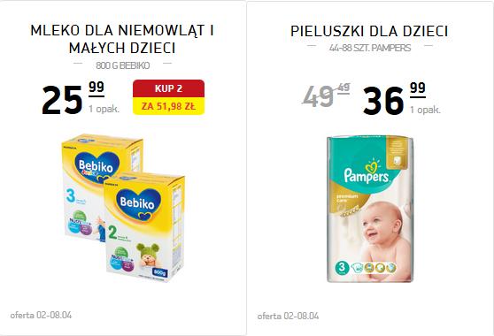 Mleko Bebiko za 25,99zł, Pampers Premium Care za 36,99zł @ Intermarche