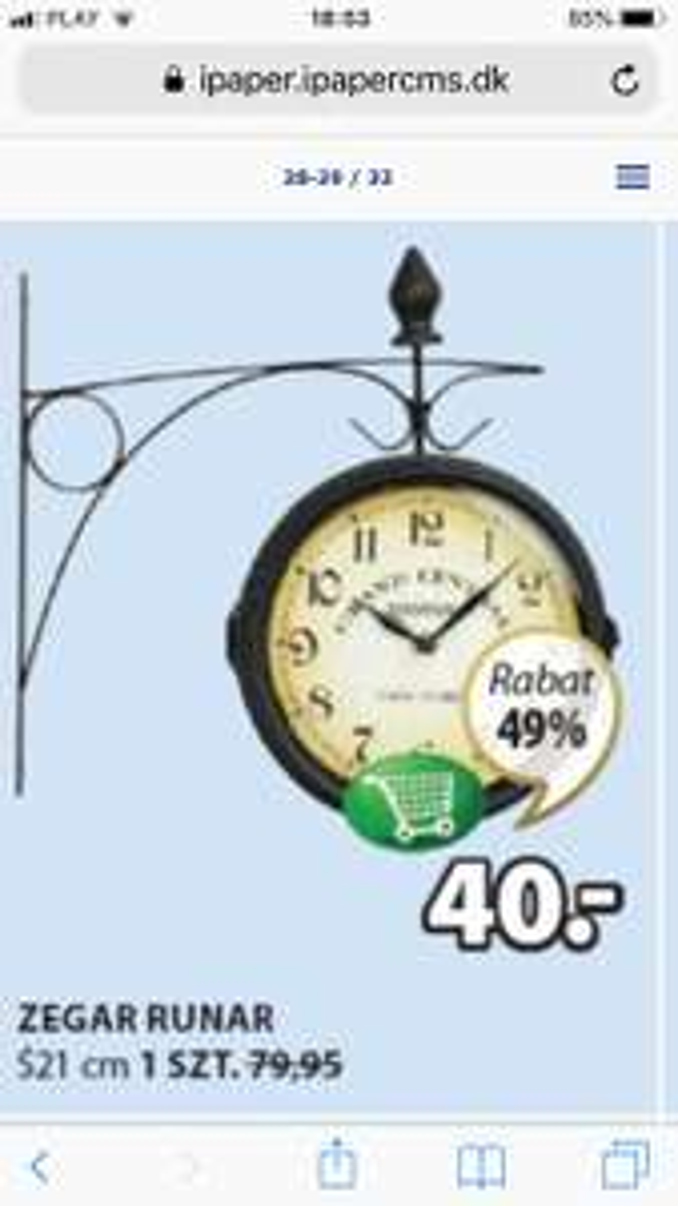 Zegar ścienny dwustronny
