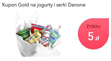 5zł zwrotu przy zakupie produktów Danone za 10zł