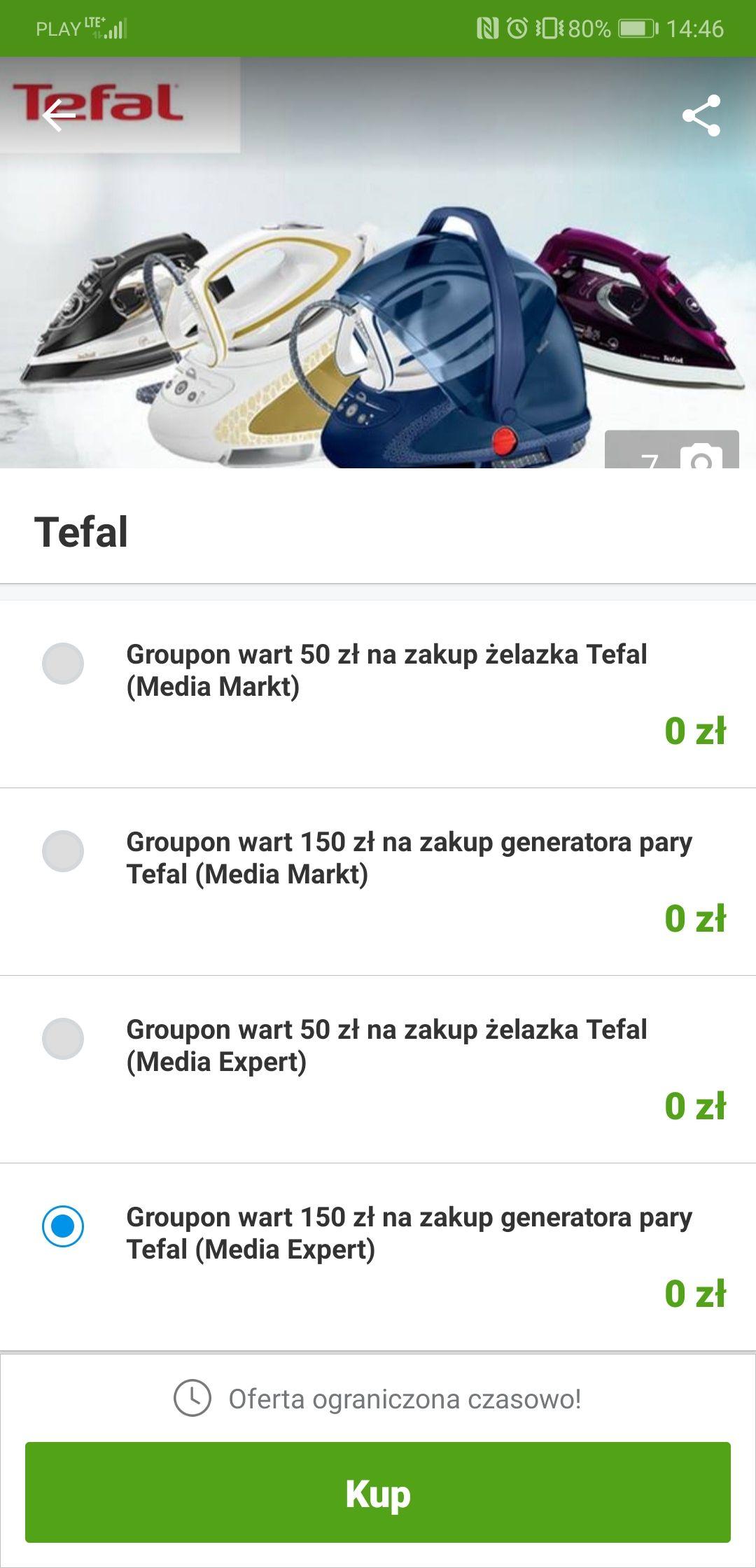 Stacje parowe Tefal taniej 150 złotych