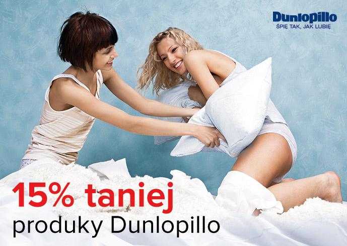 Materace, poduszki, stelaże Dunlopillo 15 % taniej @ Meble Vox