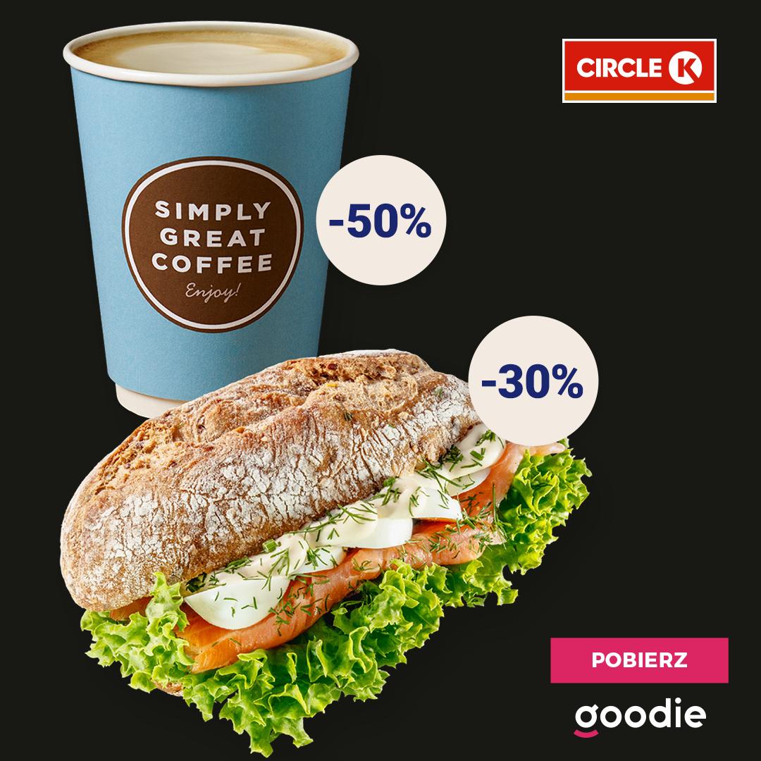 -50% na gorące napoje, -30% na kanapki na stacjach Circle K