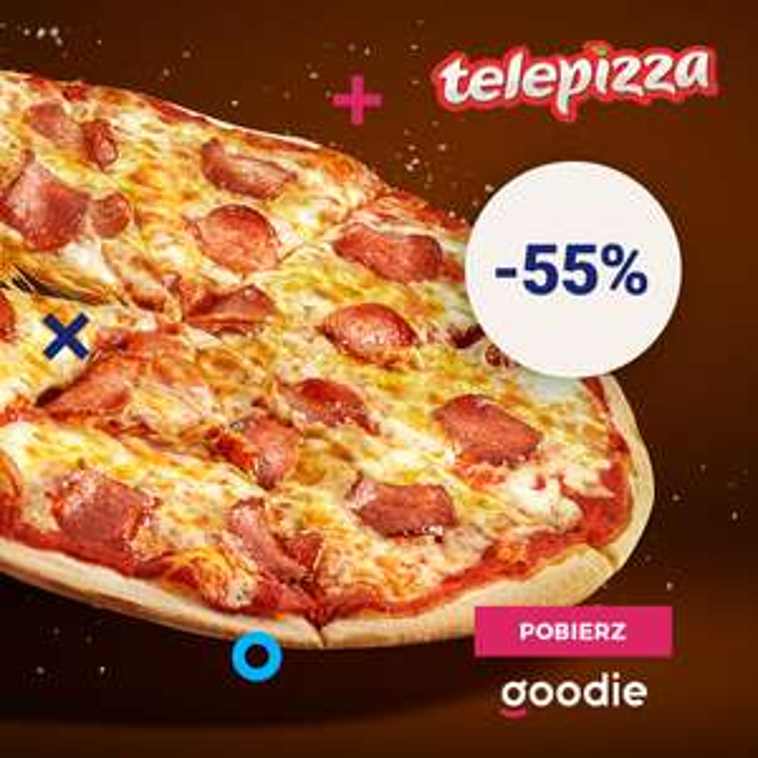 -55% na wszystkie pizze online w Telepizza (wybrane lokalizacje)
