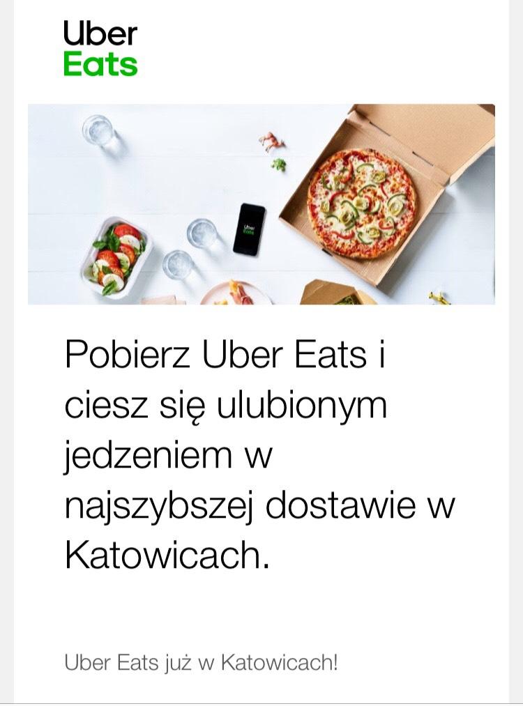 Do -15zł na trzy pierwsze zamówienia Uber Eats Katowice