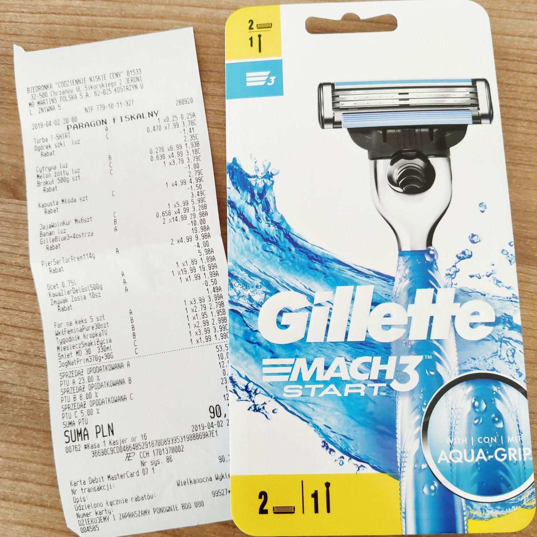 Gillette mach 3 start Biedronka
