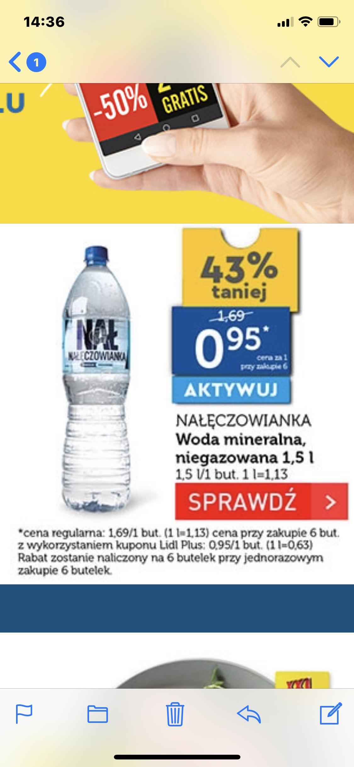 Lidl Woda mineralna Nałęczowianka