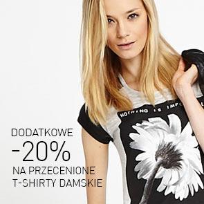 20% rabatu na przecenione t-shirty damskie i męskie @ Reserved