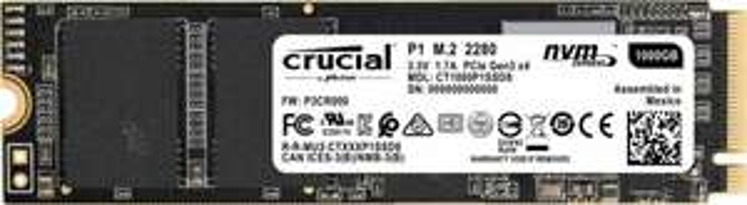 SSD Crucial P1 1TB M.2 NVME 138$
