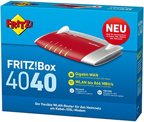 FRITZ!Box 4040 - router bezprzewodowy WIFI. Troche taniej ale zawsze.