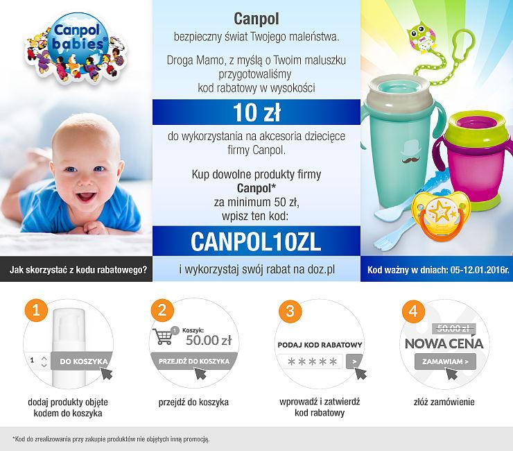 10 zł rabatu na produkty Canpol MWZ 50zł @doz.pl