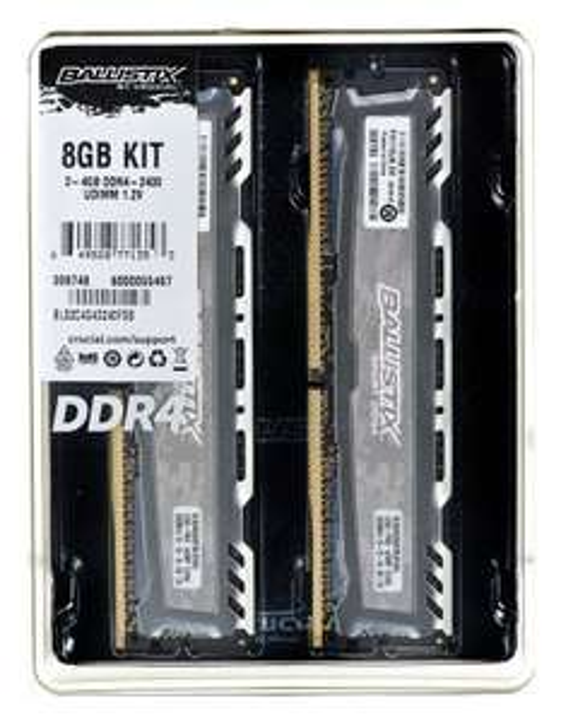 Pamięć RAM DDR4 8GB (2x4GB) Crucial Ballistix 2400 MHz CL16