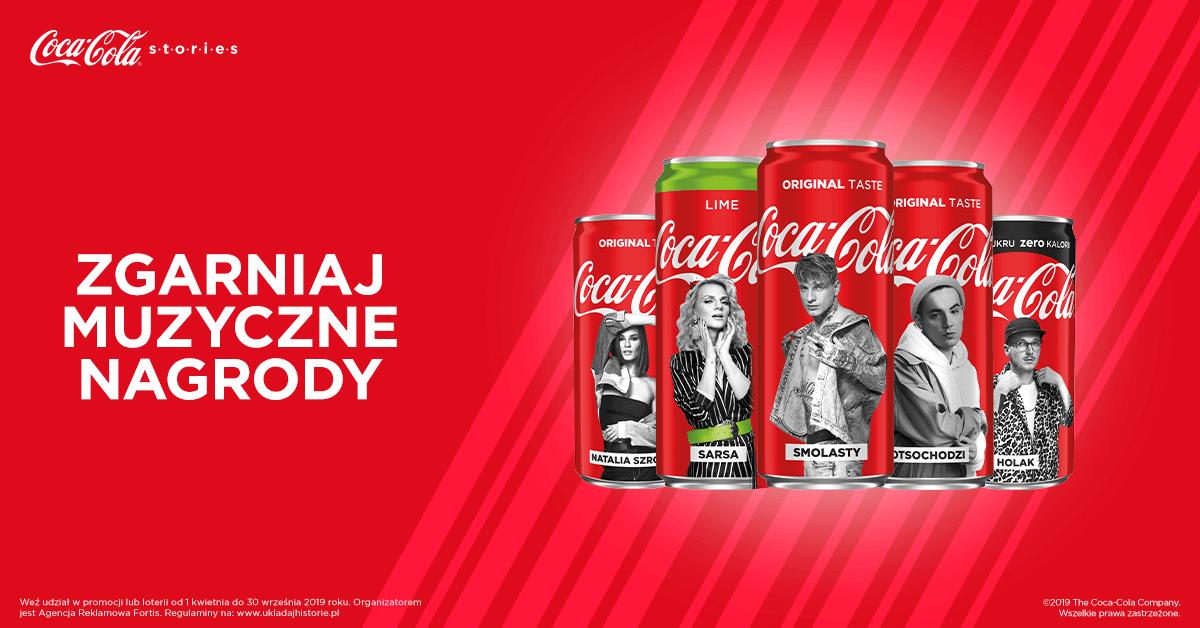 Coca-Cola - GB w Play, Tidal na 60 dni, gadżety