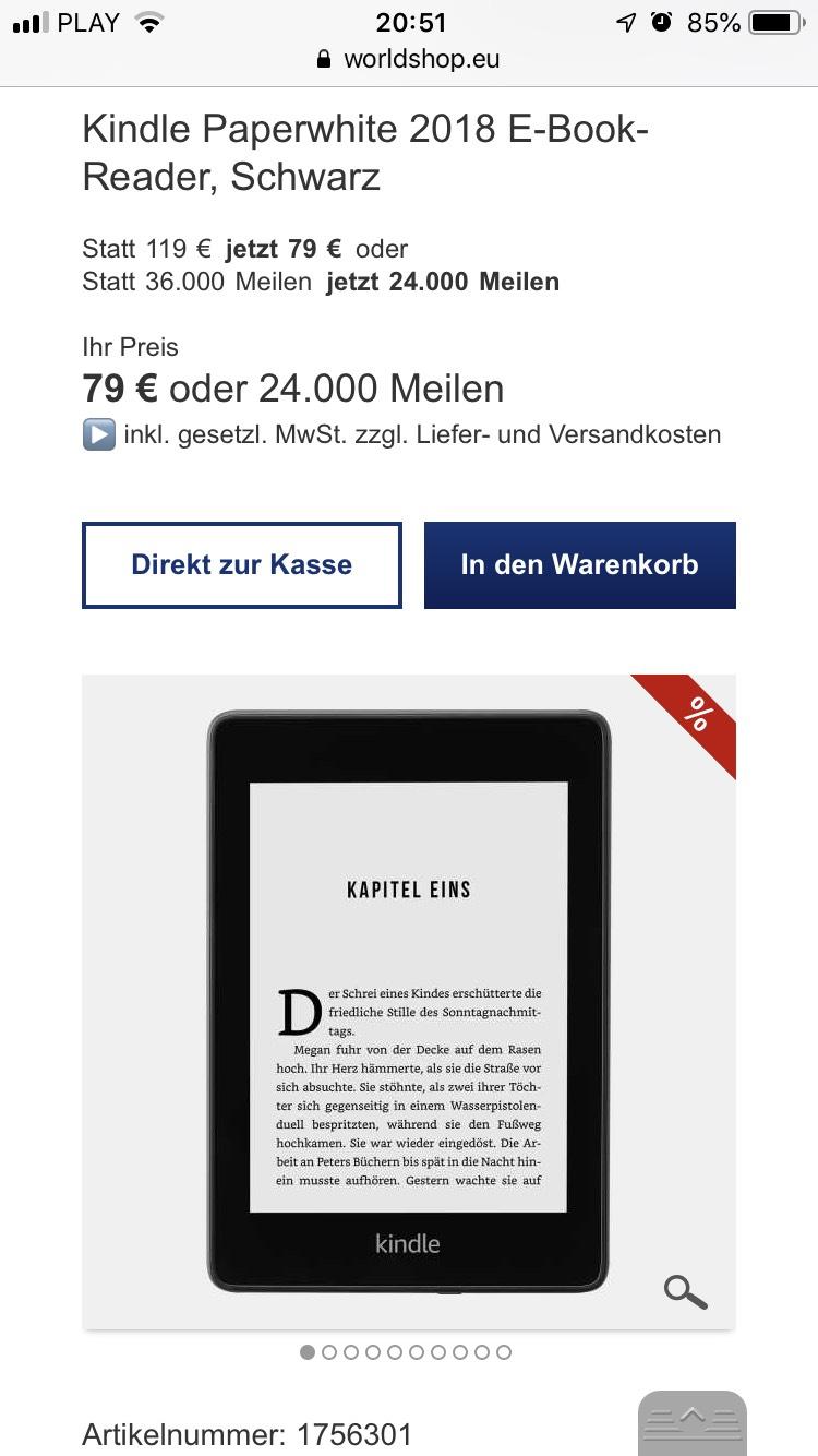 Kindle Paperwhite 2018 E-Book-Reader