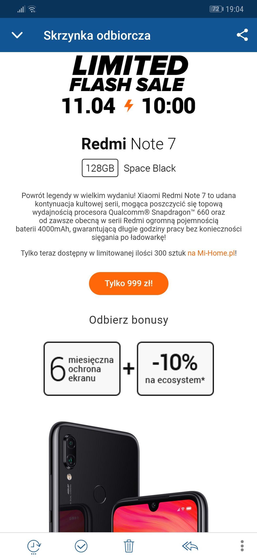 Promo - Flash Sale - Xiaomi Note 7 4/128GB
