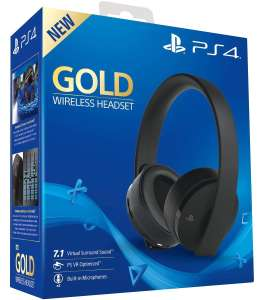 SONY PLAYSTATION HEADSET GOLD PS4/PS3/PSVITA (711719455165)