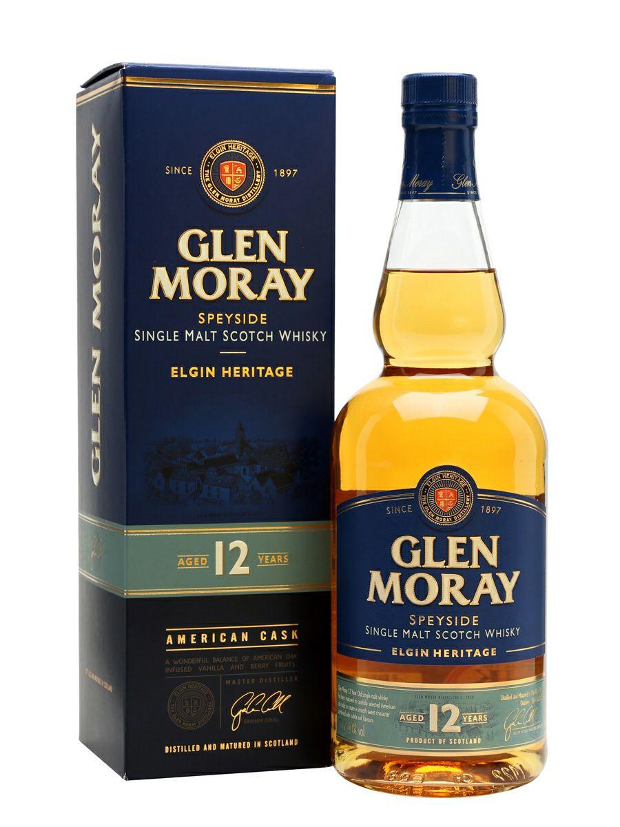 Whisky Single Malt Glen Moray 12YO I inne - Tesco