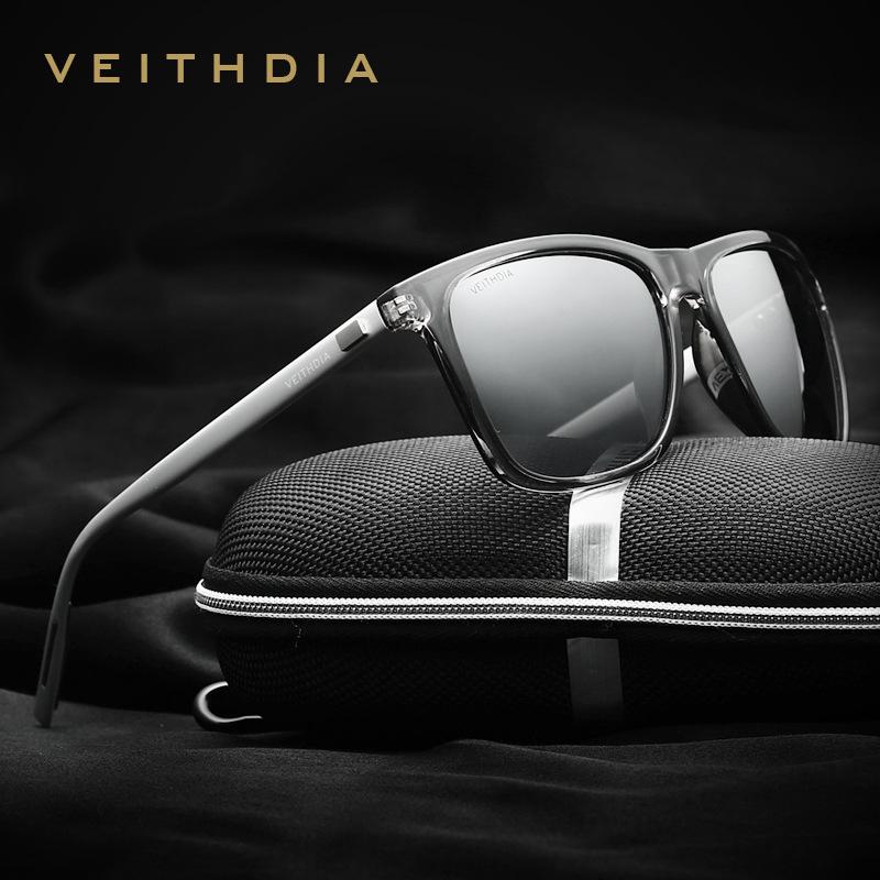 Okulary z polaryzacją VEITHDIA Unisex Retro 6108 - różne kolory + futerał + ścierka do czyszczenia