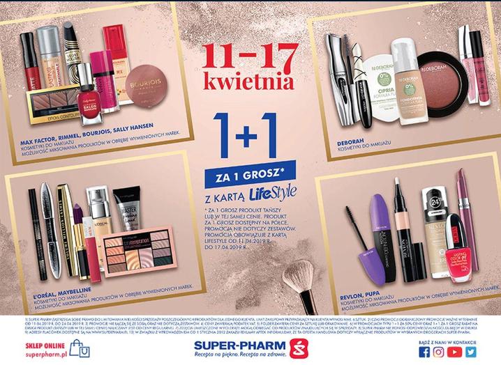1+1 za grosz na wybrane marki (z kartą LifeStyle) @ Super-Pharm