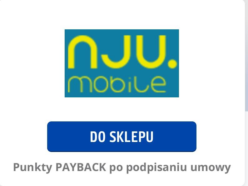 NJU mobile 6888 [68.88PLN] promocyjnych  punktów PAYBACK