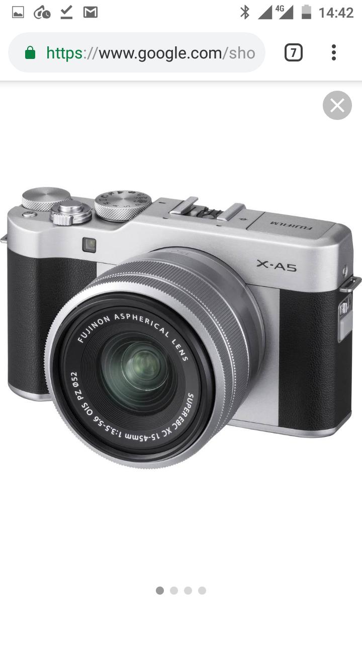 Bezlusterkowiec aparat Fujifilm X-A5 + obiektyw XF 15-45 srebrny 4K 24Mp APS-C Z Amazon.it (347,69€)