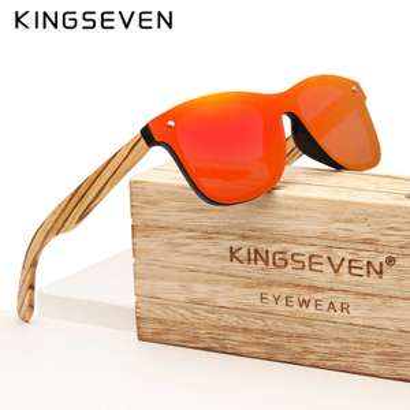 Drewniane okulary z polaryzacją dla hipsterów.