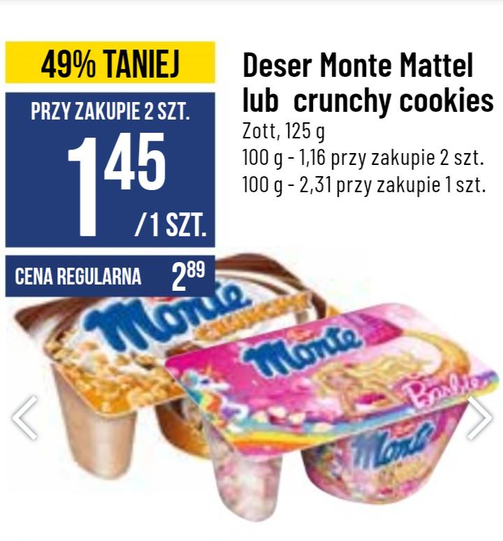 Desery Monte: Mattel lub Crunchy Cookies Polo Market