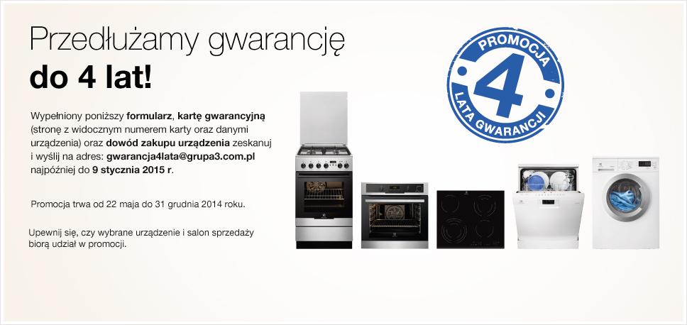 4 lata gwarancji na produkty Electrolux