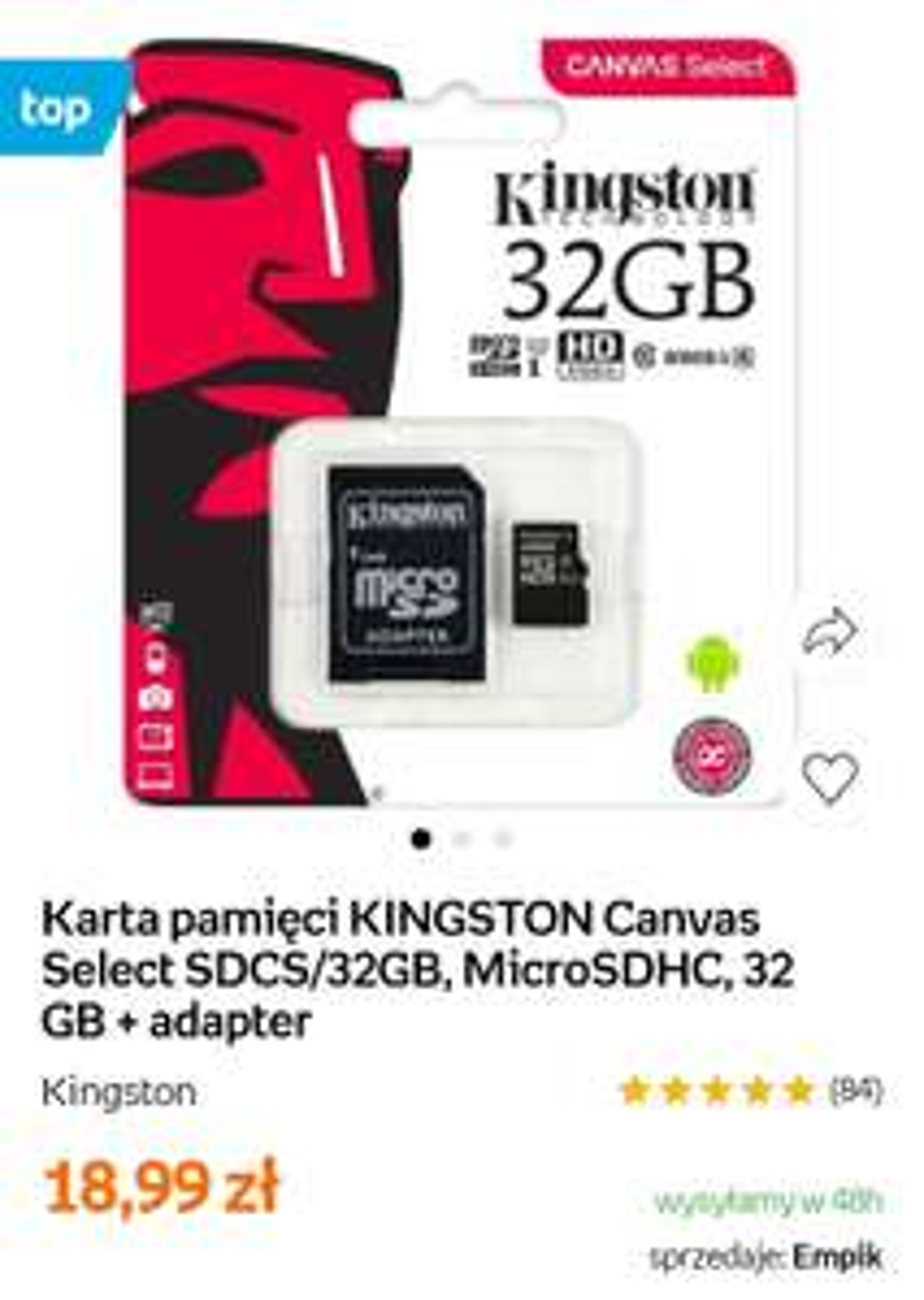 Karta Pamięci Kingston 32 GB - Empik