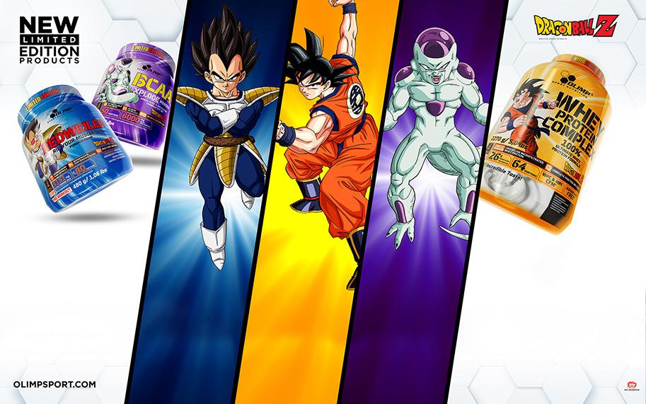 Białko Olimp oraz inne z edycji Dragon Ball Z-10% na allegro Olimp