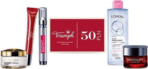 Voucher do Triumph o wartości 50zł przy zakupie dwóch kosmetyków L'oreal