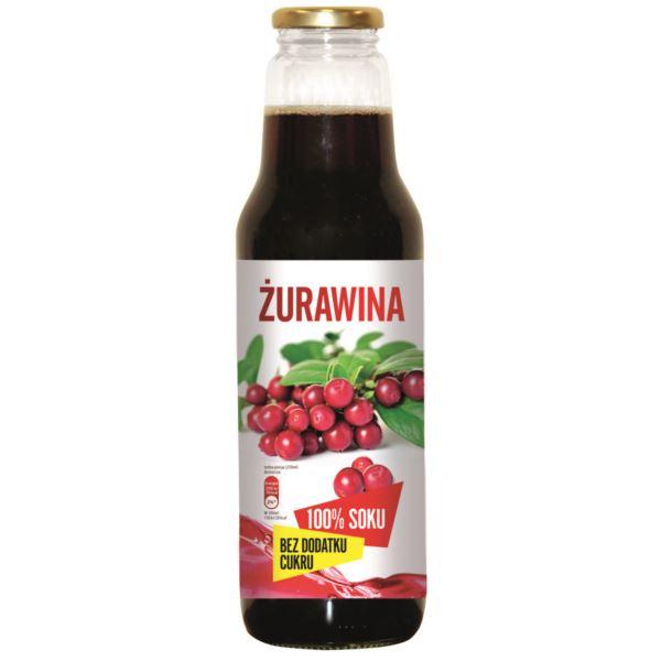 100% sok (żurawina/aronia/czarny bez) 750ml za 7,19zł @ Netto