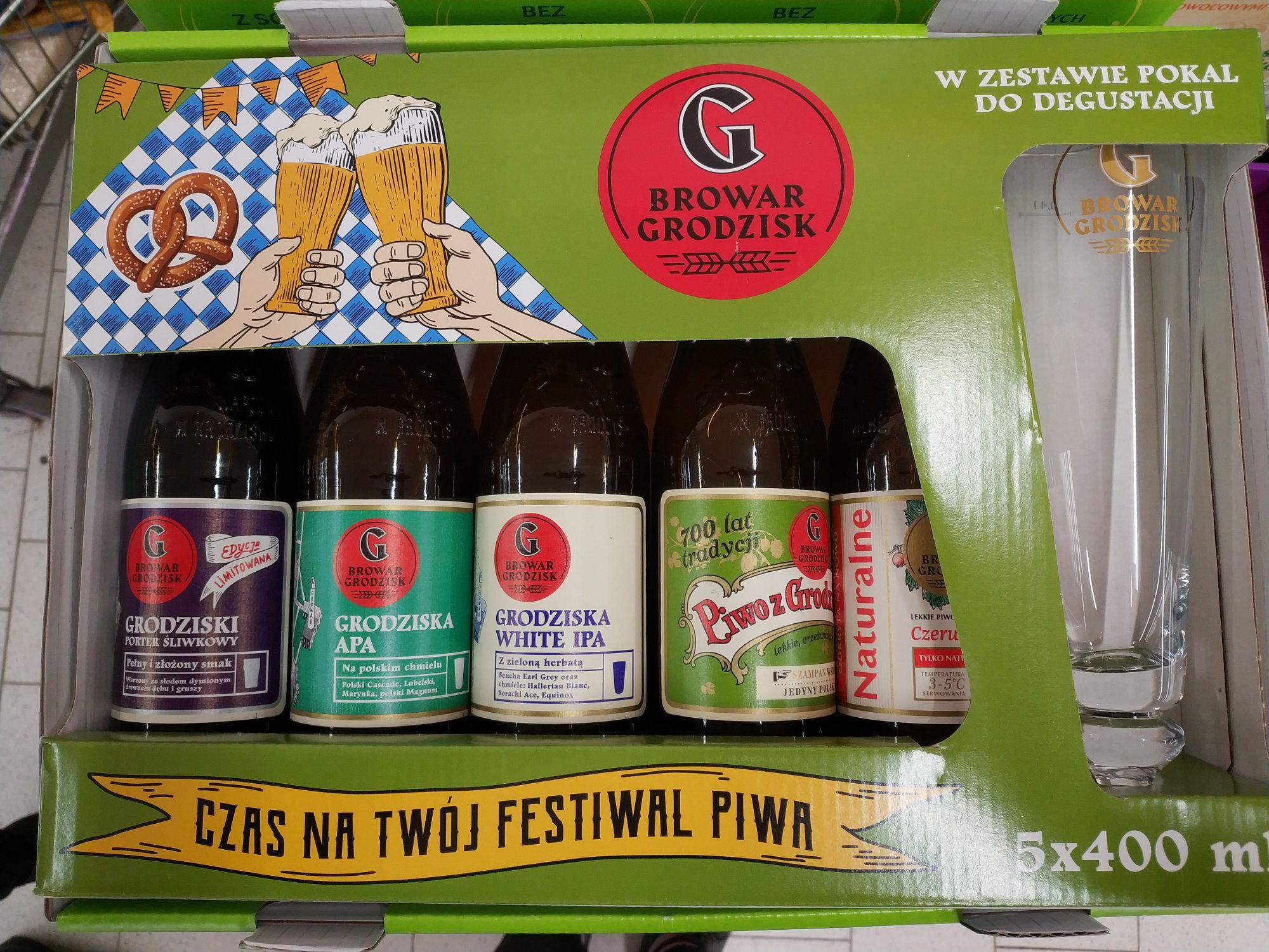 Piwo Grodziskie zestaw