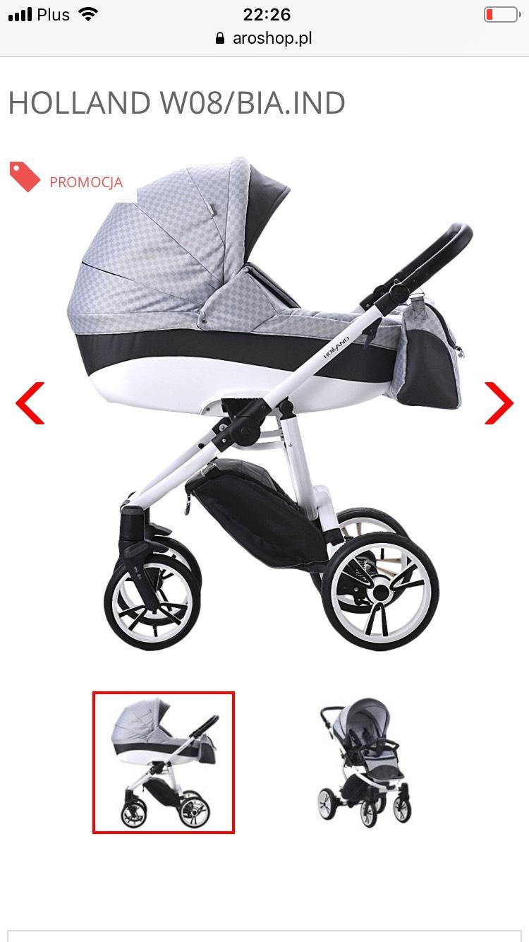 Duża promocja na wózki dziecięce 2w1