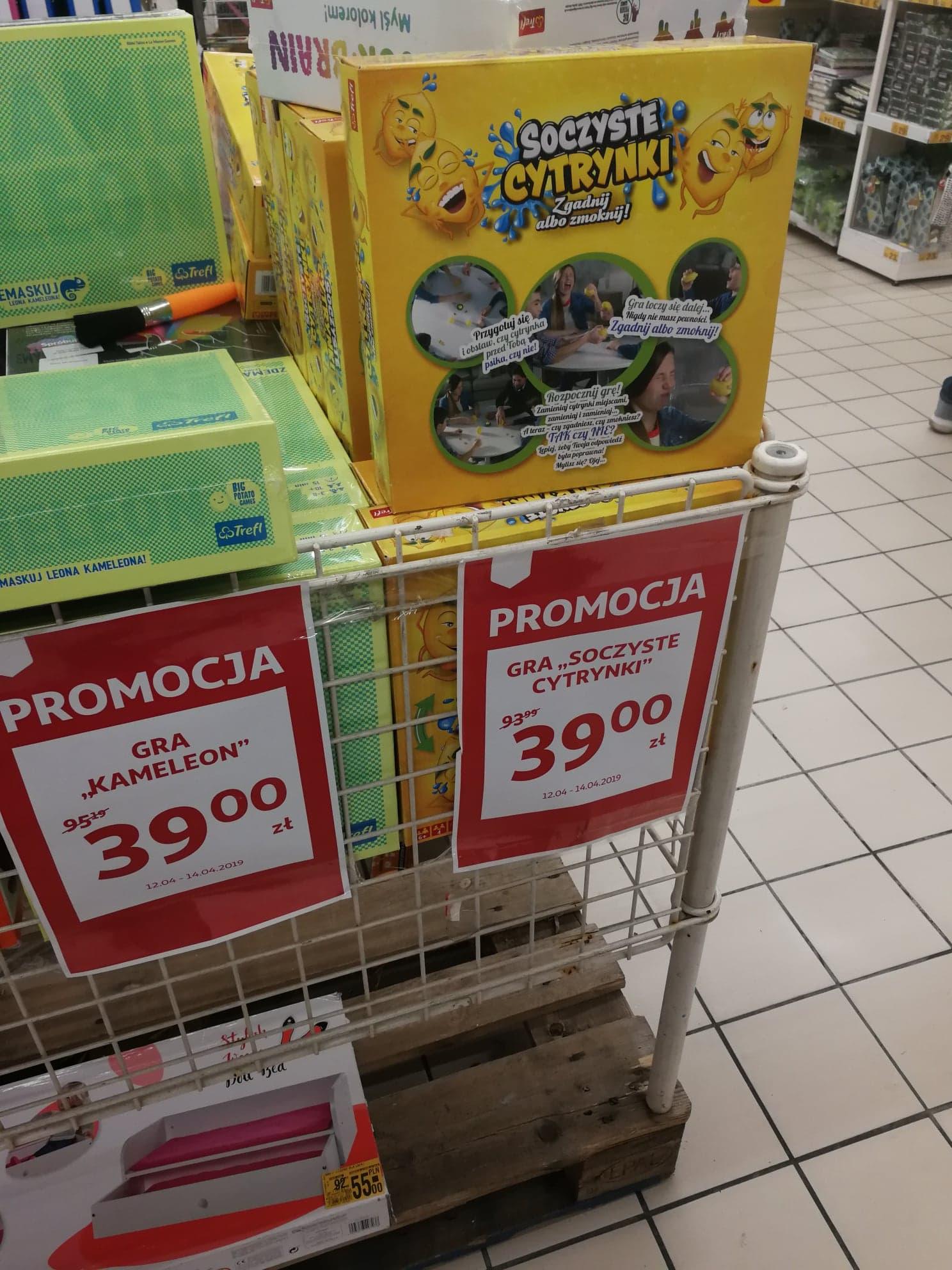 Gra Kameleon i Gra Soczyste Cytrynki - Auchan Galeria Bronowice