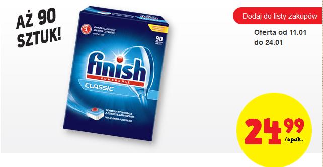 Tabletki do zmywarki Finish Classic, 90 szt. za 24,99zł (28gr za tabletkę ) @ Biedronka