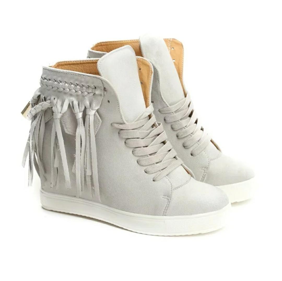 -30% z kodem od podanej ceny Jasnoszare Sneakersy Laverne sznurowane rozm.35,36,37,38 na Born2be