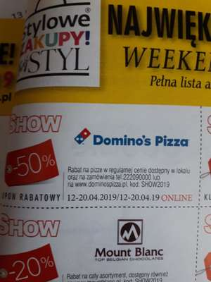 Dominos Pizza -50%