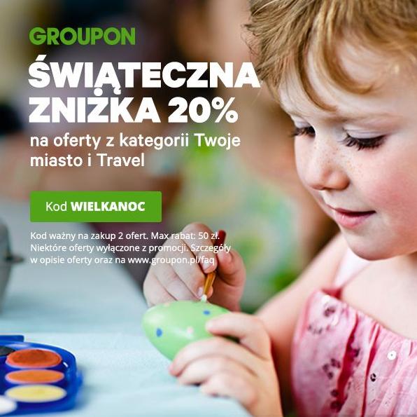 Świąteczna zniżka 20% w Groupon na Twoje miasto i Travel