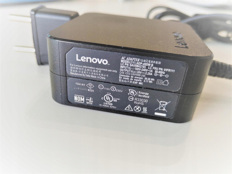 Oryginalny tani zasilacz Lenovo 20V 2,25A 45W